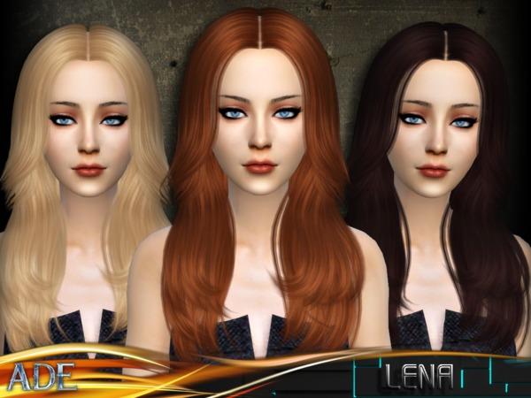 Sims 4 Ade Lena hair by Ade Darma at TSR