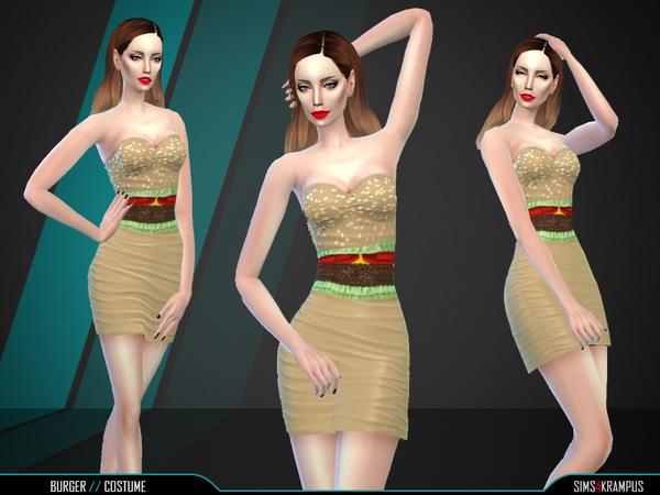 Sims 4 Burger Dress by SIms4Krampus at TSR