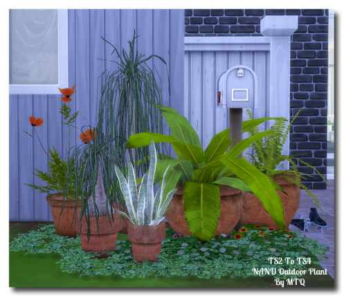 Ts2 to ts4 outdoor plants at msteaqueen sims 4 updates for Indoor gardening sims 4