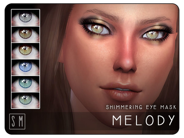 Sims 4 Melody Shimmering Eye Mask by Screaming Mustard at TSR