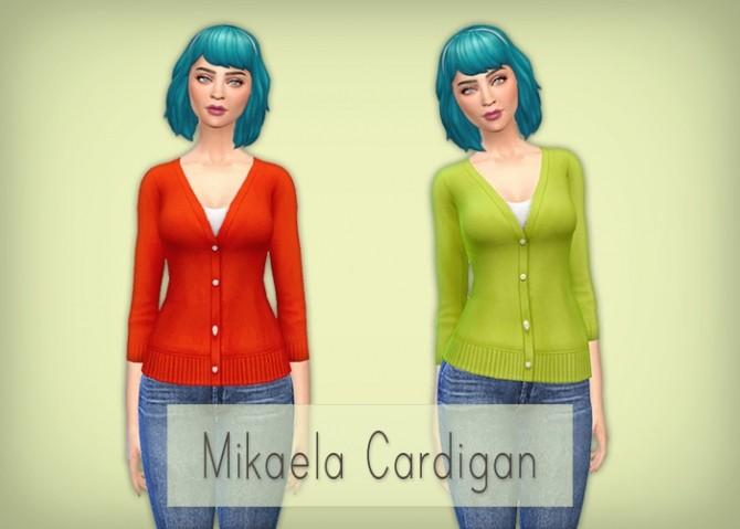Sims 4 Mikaela Cardigan at Simsrocuted
