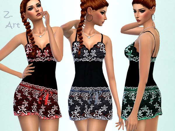 Sims 4 Silky Nightie by Zuckerschnute20 at TSR