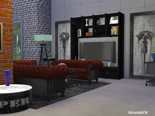 Living Loft by ShinoKCR at TSR image 302 Sims 4 Updates