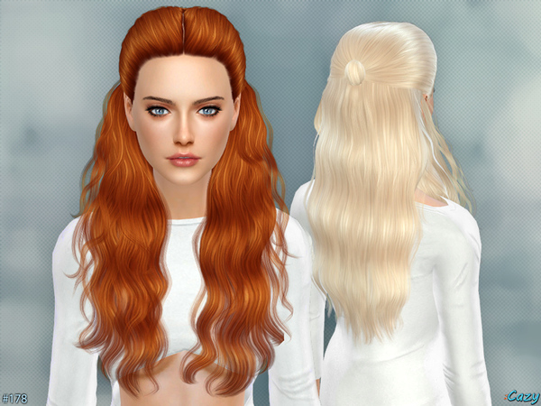 Hairstyles Updates: Hannah Female Hair By Cazy At TSR » Sims 4 Updates