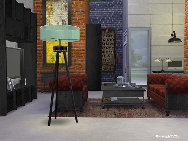 Sims 4 Living Loft by ShinoKCR at TSR