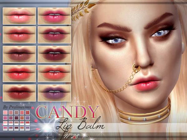 Sims 4 Candy Lip Balm N28 by Pralinesims at TSR