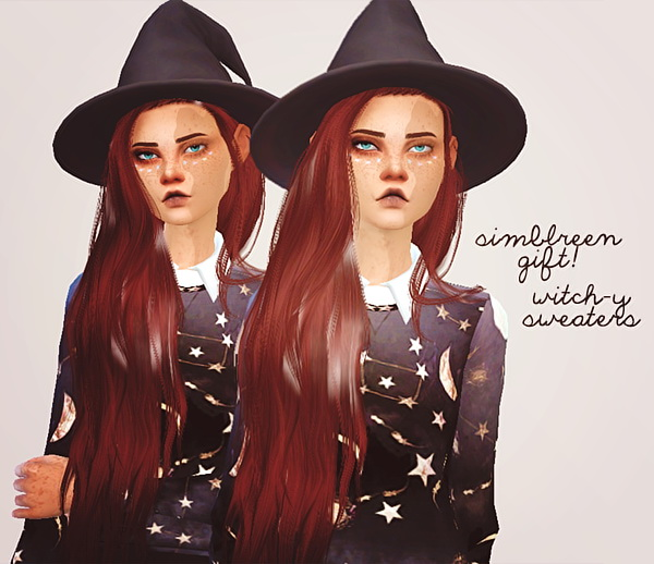 Sims 4 Witch y sweaters at Puresims