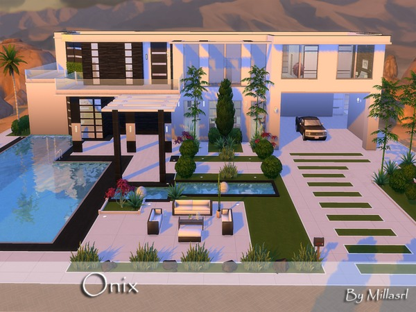 Sims 4 Onix house by millasrl at TSR