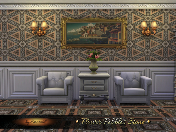 Sims 4 Flower Pebbles Stone by emerald at TSR