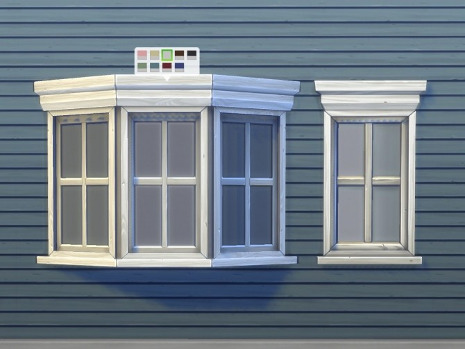 Sims 4 Casement Bay Window by plasticbox at Mod The Sims