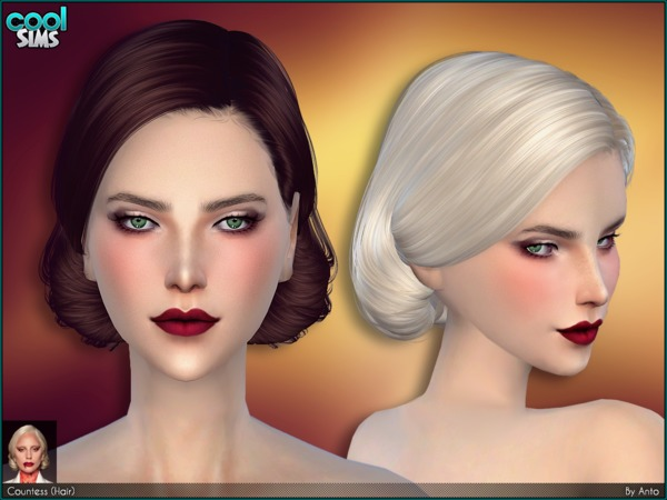 Sims 4 Anto Countess Hair by Alesso at TSR