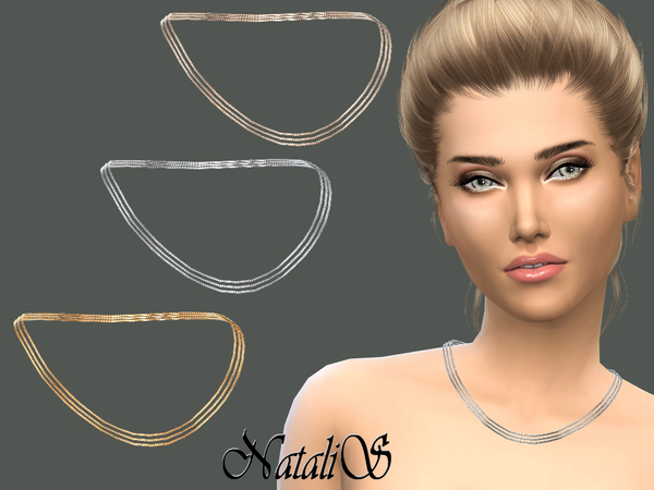 Triple Chain Necklace by NataliS at TSR image 340 Sims 4 Updates