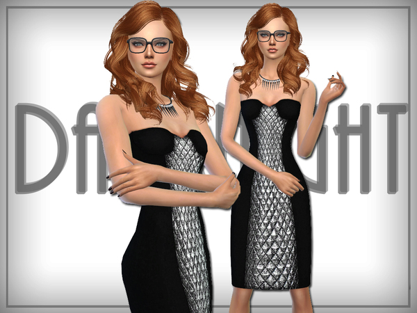Metallic Paneled Dress by DarkNighTt at TSR image 3415 Sims 4 Updates