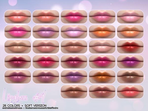 Sims 4 Lipgloss #9 Soft Version by Aveira at TSR
