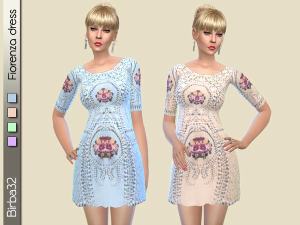 Sims 4 Fiorenza dress by Birba32 at TSR