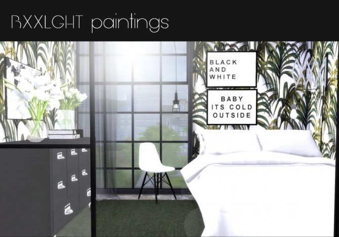 BXXLGHT paintings at Hvikis image 349 670x469 Sims 4 Updates