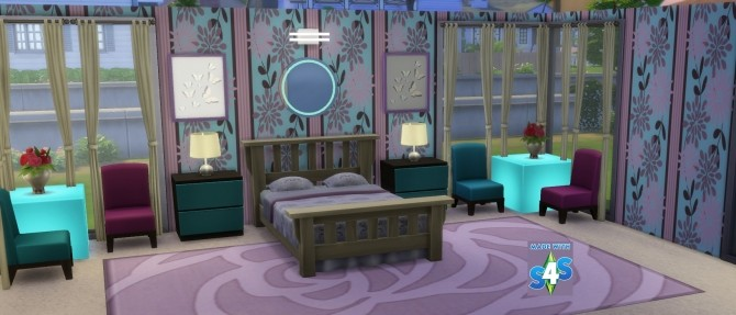 Sims 4 Mixture Wallpaper Set of 8 by wendy35pearly at Mod The Sims