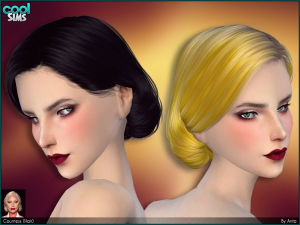 Anto Countess Hair by Alesso at TSR image 36 Sims 4 Updates