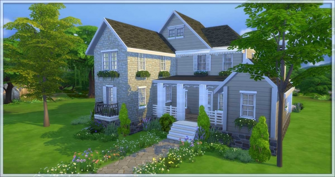 Suburban House By Una At Mod The Sims 187 Sims 4 Updates