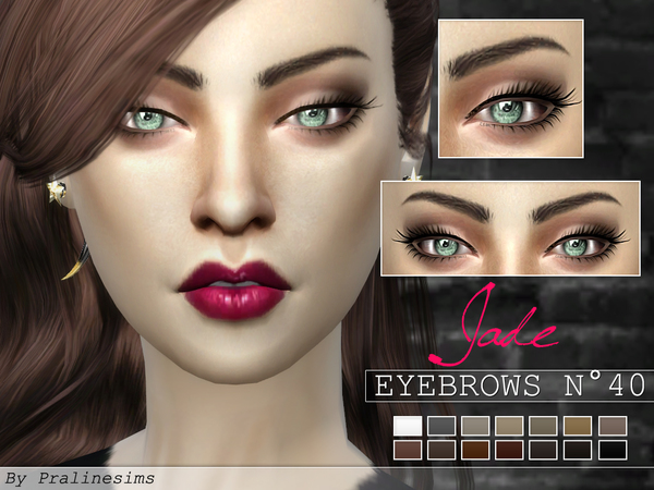 Sims 4 Eyebrows Minipack 5 Eyebrows N04 by Pralinesims at TSR