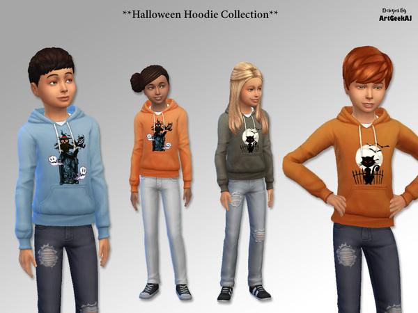 Halloween Hoodie Collection by ArtGeekAJ at TSR image 3918 Sims 4 Updates