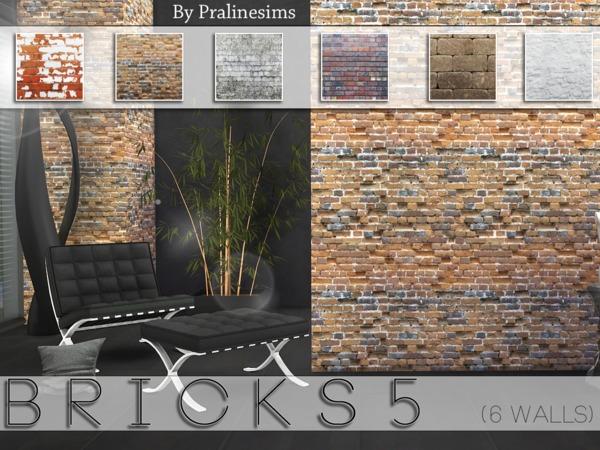 Sims 4 Bricks 5   walls by Pralinesims at TSR