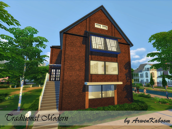 Traditional Modern house by ArwenKaboom at TSR image 4023 Sims 4 Updates