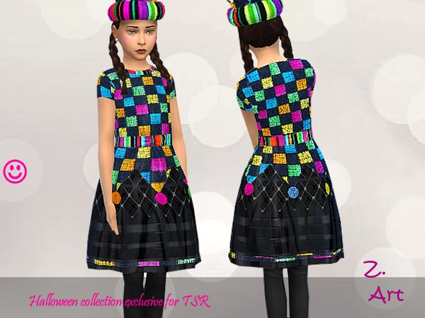 Sims 4 Harlequin Set by Zuckerschnute20 at TSR