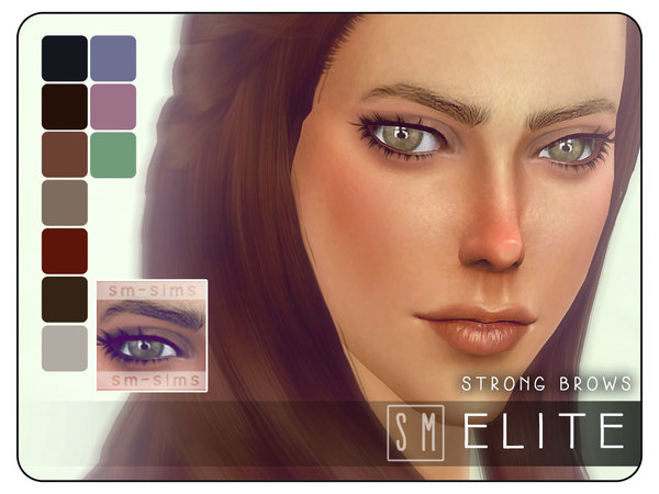 Elite Strong Brows by Screaming Mustard at TSR image 4100 Sims 4 Updates