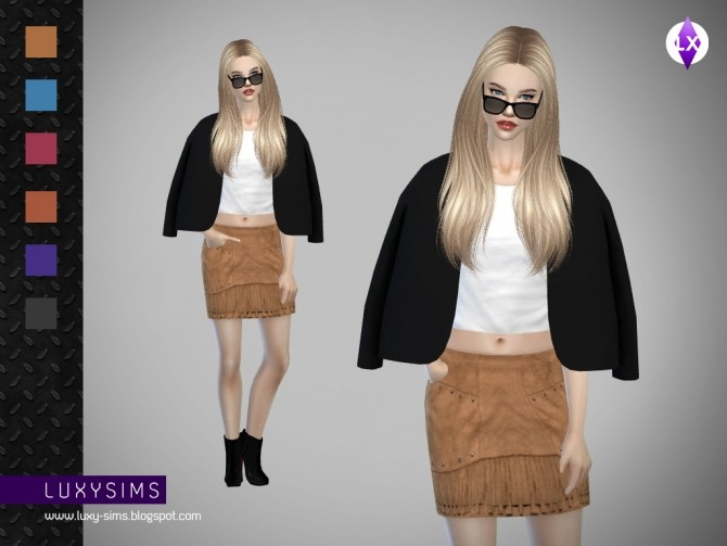 Fringed Skirt at Luxy Sims image 4114 670x503 Sims 4 Updates