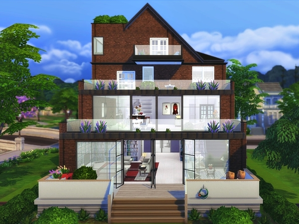 Traditional Modern house by ArwenKaboom at TSR image 4126 Sims 4 Updates