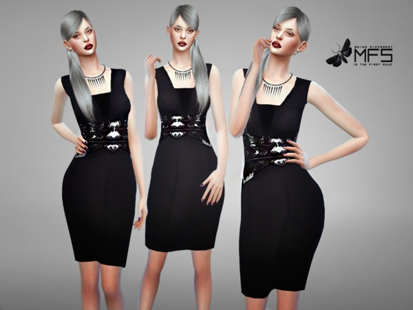 Sims 4 MFS Angie Dress by MissFortune at TSR
