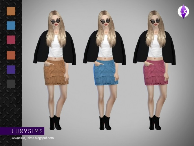Fringed Skirt at Luxy Sims image 4211 670x503 Sims 4 Updates