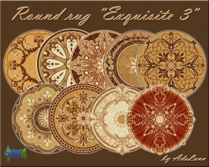 Round Rug Exquisite 3 By Adelanasp At Mod The Sims 187 Sims
