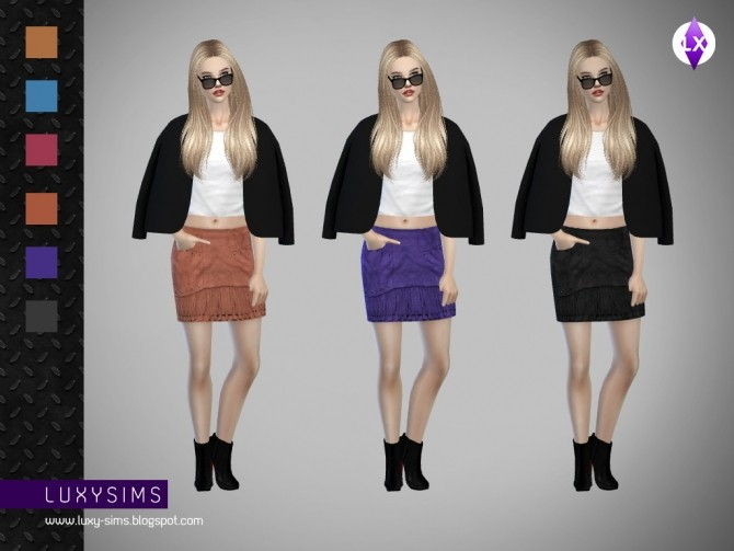 Fringed Skirt at Luxy Sims image 4310 670x503 Sims 4 Updates