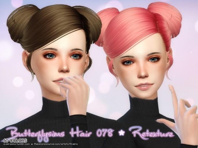 Sims 4 Butterflysims Hair 078 retexture at Aveira Sims 4