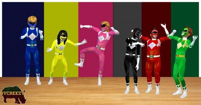 Sims 4 Glowing Mighty Morphin Power Rangers Kids Costume at Blacksimzmatter – Rycreezy