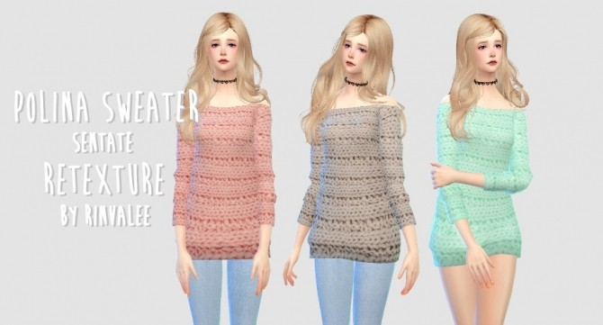 Sims 4 Polina Sweater TopVer. at Rinvalee