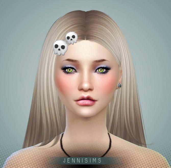 skull hairpin at jenni sims 187 sims 4 updates