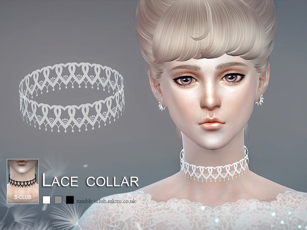 Lace collar 03 by S Club LL at TSR image 4512 Sims 4 Updates