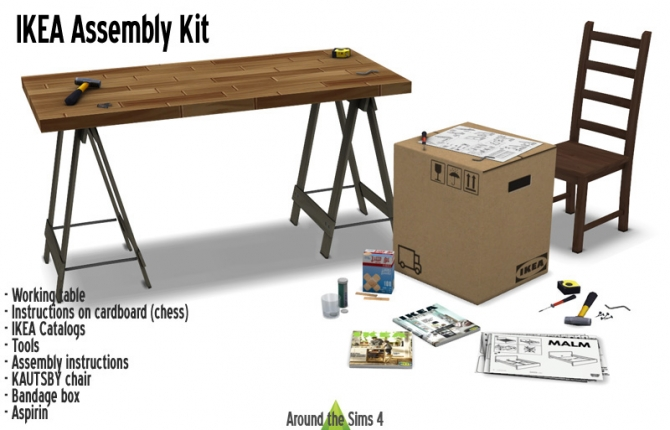 Ikea Assembly Kit At Around The Sims 4 187 Sims 4 Updates