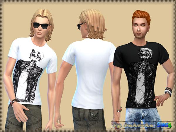 Sims 4 Shirt Cool Skeleton by bukovka at TSR