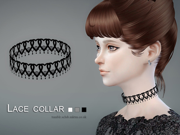 Lace collar 03 by S Club LL at TSR image 4611 Sims 4 Updates