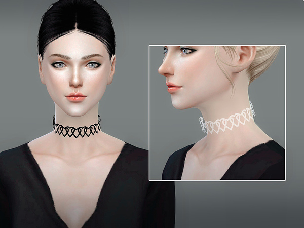 Lace collar 03 by S Club LL at TSR image 4711 Sims 4 Updates