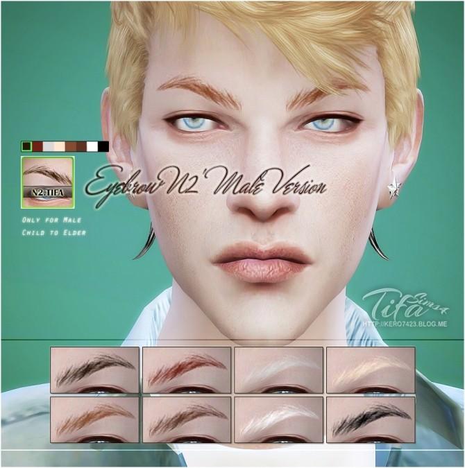 Sims 4 Eyebrows N2 male version at Tifa Sims