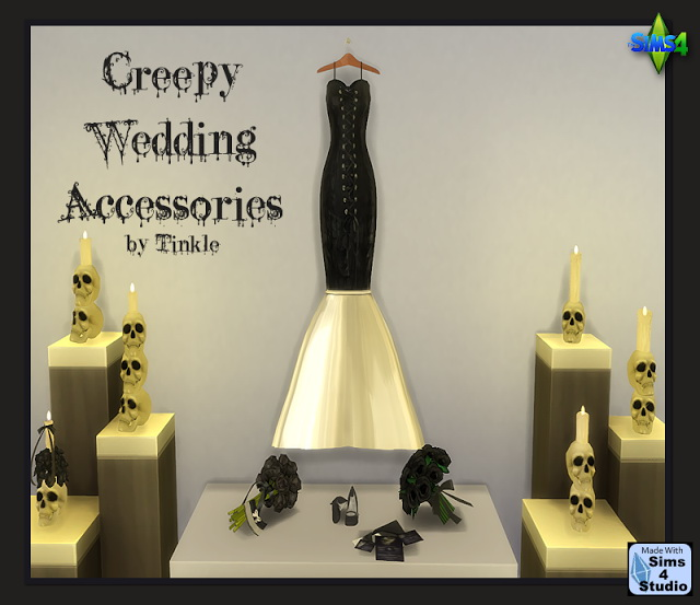 Sims 4 Creepy Wedding set at Tinkerings by Tinkle
