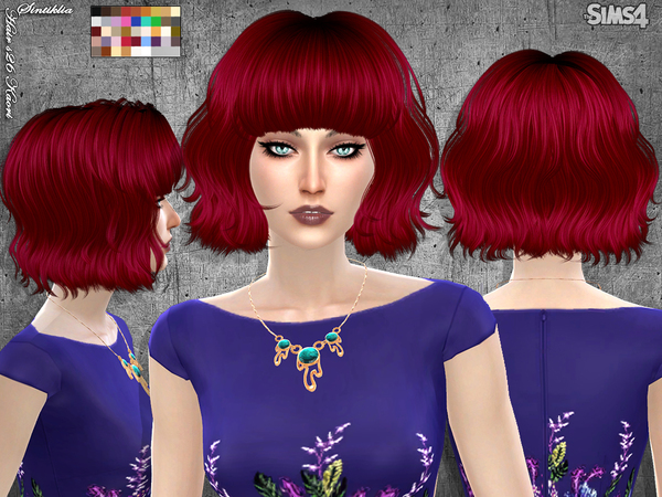 Sims 4 Hair s26 Kaori by Sintiklia at TSR
