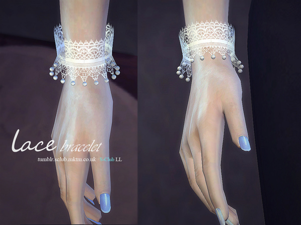 Lace bracelet & gloves by S Club LL at TSR image 4814 Sims 4 Updates