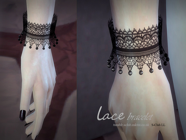 Lace bracelet & gloves by S Club LL at TSR image 4913 Sims 4 Updates