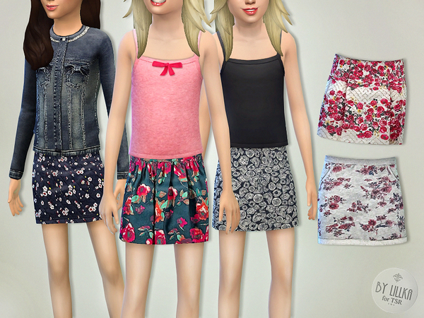 Sims 4 Skirts Collection 01 by lillka at TSR